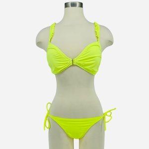 VICTORIA'S SECRET Neon Yellow Itsy Bikini